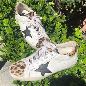 Golden Goose Superstar Leopard Sneakers (Sz 37/7)